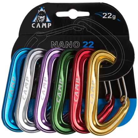 C.A.M.P. Nano 22 Rack Pack Carabiners - Set of 6 in See Photo - Closeouts