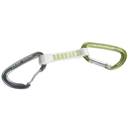 C.A.M.P. Photon Express Nylon Quickdraw - 11cm in Green/White/Silver - Closeouts