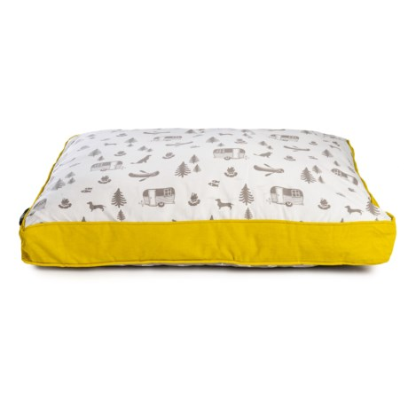 Image of Camp Stripe Rectangle Dog Bed - 27x36?
