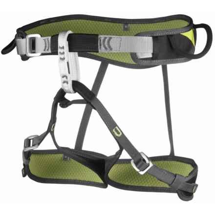 C.A.M.P. USA Jasper CR3 Light Climbing Harness in Green/Grey - Closeouts