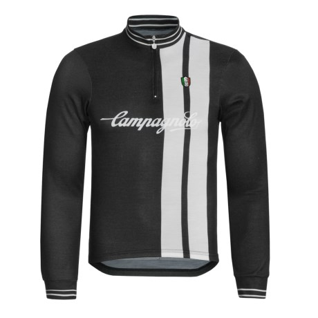 Campagnolo Heritage Sportwool Cycling Jersey - Zip Neck, Long Sleeve (For Men) in Black