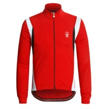 Campagnolo Racing Cycling Jersey - Full Zip, Long Sleeve (For Men) in Red - Closeouts
