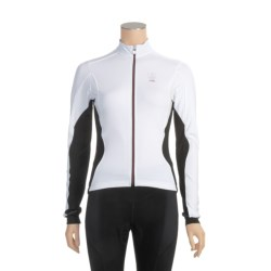 Campagnolo Racing Cycling Jersey - Full Zip, Long Sleeve (For Women) in White