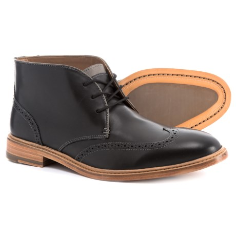 Image of Campbell Wingtip Chukka Boots - Leather (For Men)