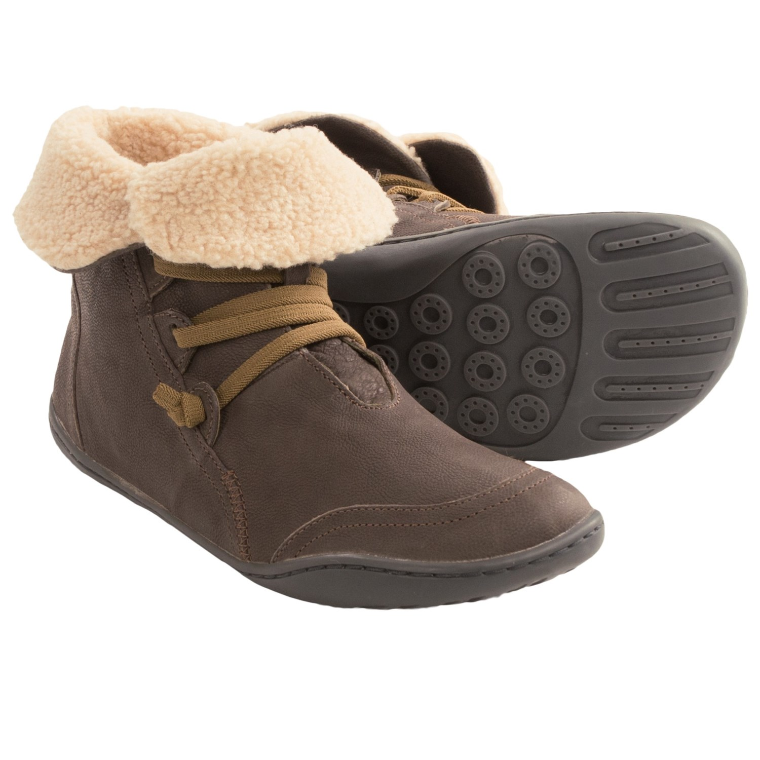 Camper PEU Cami Leather Ankle Boots (For Women) in Oxyde