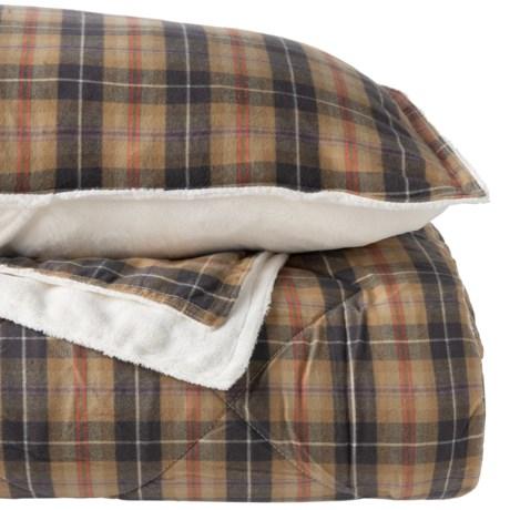 Image of Campfire Plaid Flannel Comforter Mini-Set - King
