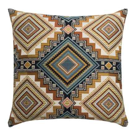 """Canaan Abrieta Geometric Decorative Pillow - 24x24"""", Feather-Down in Canyon - Closeouts"""