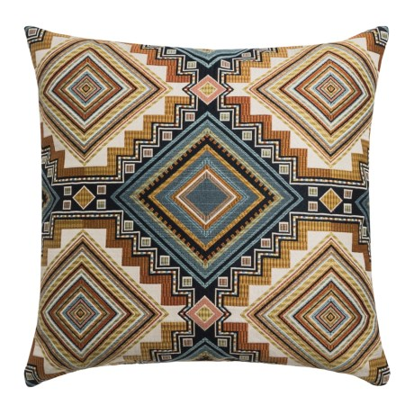 """Canaan Abrieta Geometric Decorative Pillow - 24x24"""", Feather-Down in Canyon"""