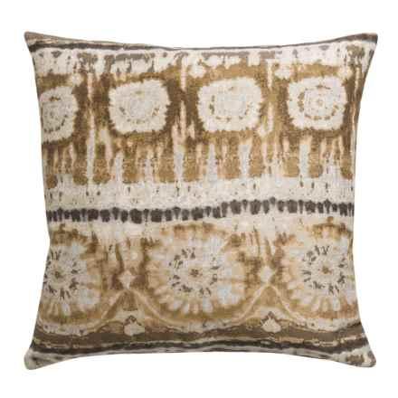 "Canaan Bora Bora Decorative Pillow - 22x22"", Feather-Down in Natural - Closeouts"