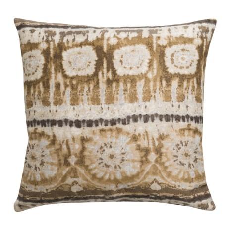 "Canaan Bora Bora Decorative Pillow - 22x22"", Feather-Down in Natural"