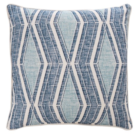 "Canaan Distressed Print Throw Pillow - 24x24"", Feathers in Vista"