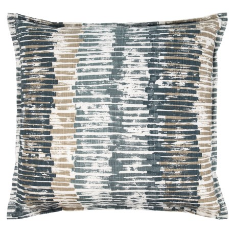 "Canaan Fountain Pattern Pillow - 24x24"", Feathers in River Way"