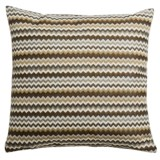 "Canaan Hiro Chenille Striped Decorative Pillow - 20x20"", Feather-Down"