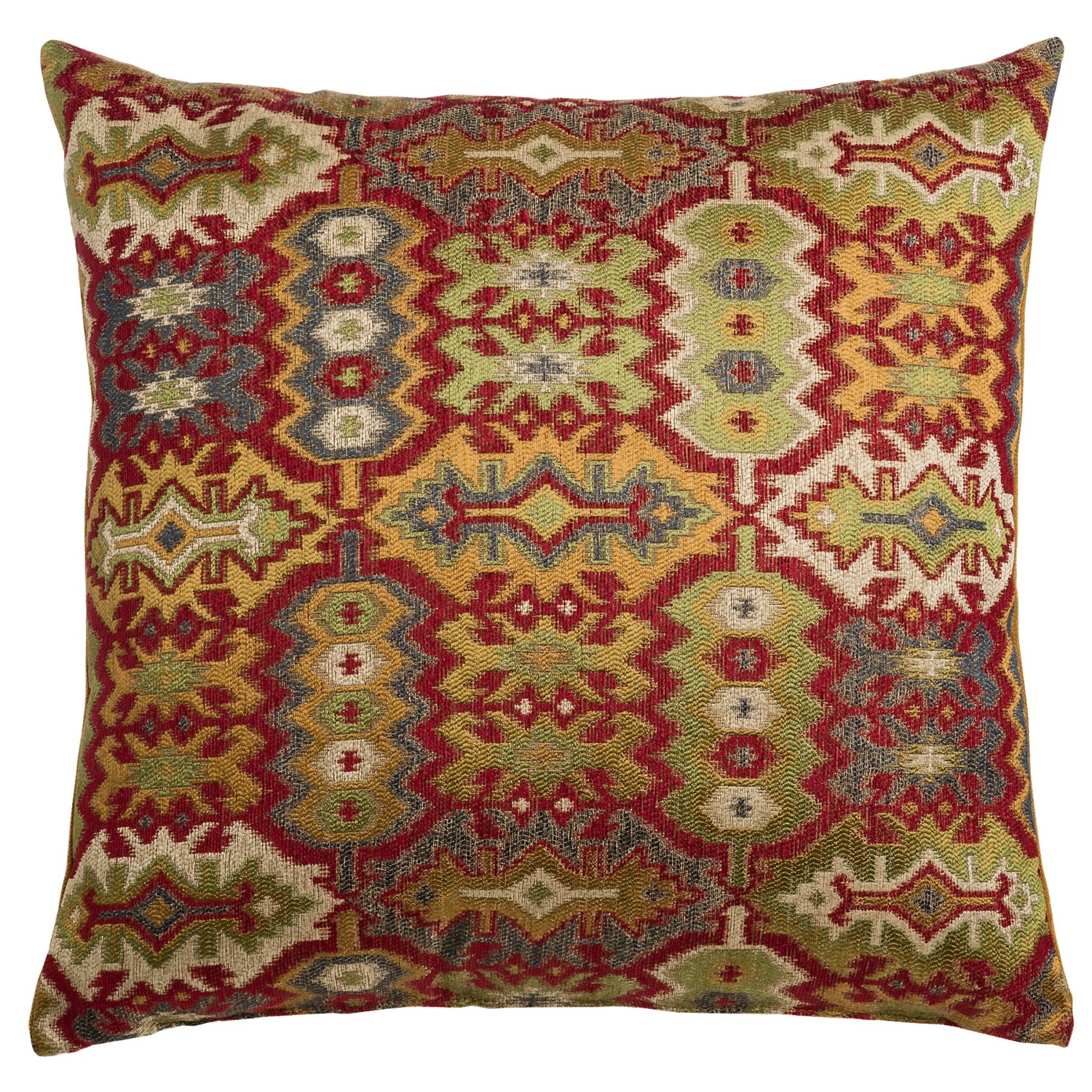 22x22 Decorative Pillows : Canaan Kedar Aztec Pattern Decorative Pillow - 22x22?, Feather-Down - Save 50%