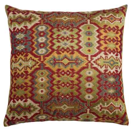 """Canaan Kedar Aztec Pattern Decorative Pillow - 22x22"""", Feather-Down in Multi - Closeouts"""