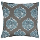 "Canaan Madras Print Pillow - 22x22"", Feathers"