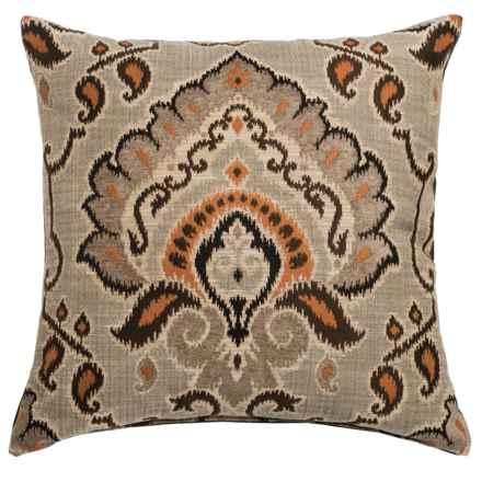 "Canaan Mykonos Chenille Decorative Pillow - 24x24"", Feather-Down in Saffron - Closeouts"