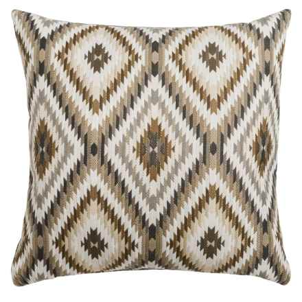 "Canaan Peninsula Mutli-Diamond Decorative Pillow - 24x24"", Feather-Down in Charcoal - Closeouts"