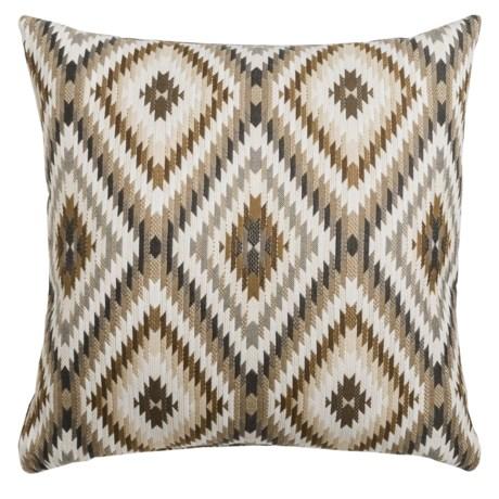 "Canaan Peninsula Mutli-Diamond Decorative Pillow - 24x24"", Feather-Down in Charcoal"