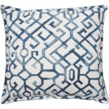 "Canaan Slub Jing Pattern Pillow - 22x22"", Feathers"