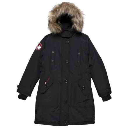 Canada Weather Gear Hooded Parka - Insulated (For Big Girls) in Black - Closeouts