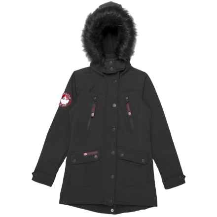Canada Weather Gear Soft Shell Jacket (For Big Girls) in Black/Black Fur - Closeouts