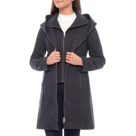 Image of Canadian Designer Acasia Belted Wool Jacket (For Women)