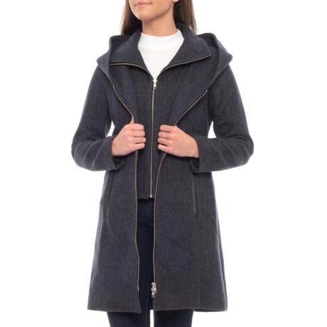 Image of Canadian Designer Acasia Belted Wool Jacket (For Women)