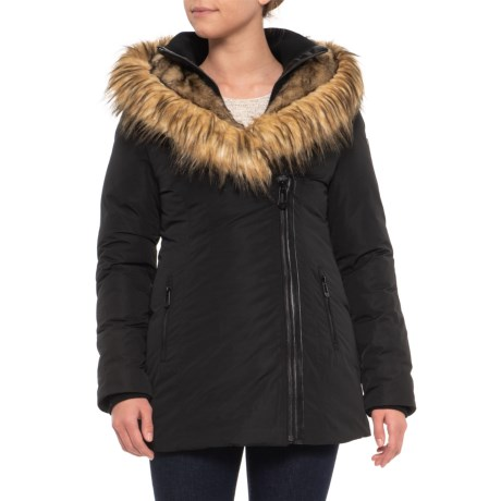 Image of Canadian Designer Flora Mid-Length Jacket - Insulated, Faux Fur Hood (For Women)