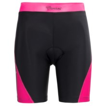 Canari Arista Bike Shorts (For Plus Size Women) in Panther Pink - Closeouts