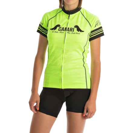 Canari Arya Cycling Jersey - Short Sleeve (For Women) in Killer Yellow - Closeouts
