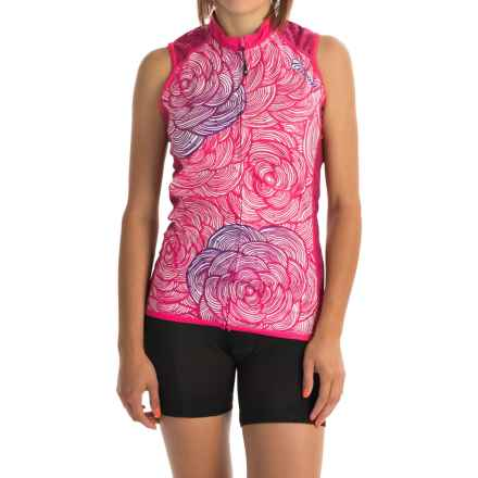 Canari Asha Cycling Jersey - UPF 30+, Full Zip, Sleeveless (For Women) in Panther Pink - Closeouts