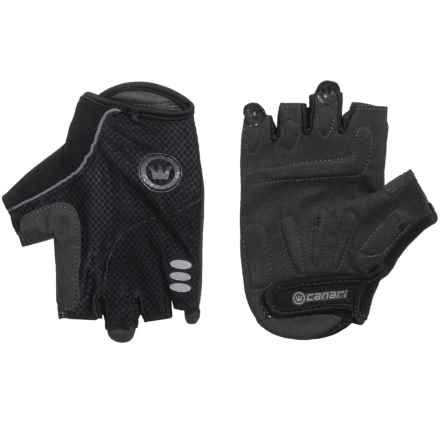 Canari Aspen Cycling Gloves - Fingerless (For Men) in Black - Closeouts