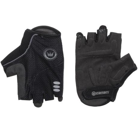 Canari Aspen Cycling Gloves - Fingerless (For Men) in Black