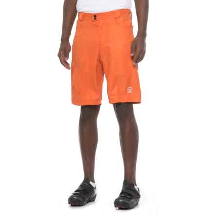 Canari Atlas Gel Baggy Bike Shorts - Detachable Liner (For Men) in Orange - Closeouts
