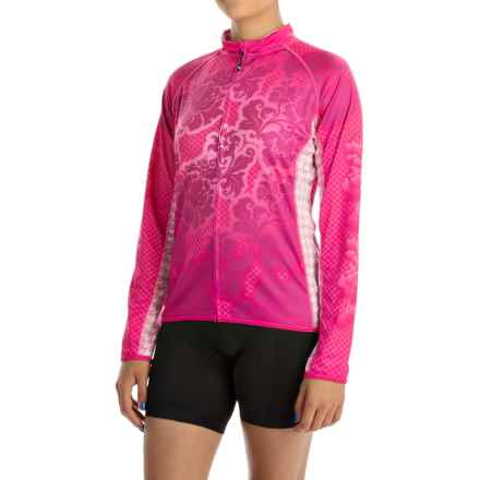 Canari Autumn Cycling Jersey - UPF 30+, Full Zip, Long Sleeve (For Women) in Panther Pink - Closeouts