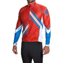 Canari Avalanche Cycling Jersey - UPF 30+, Full Zip, Long Sleeve (For Men) in Radar Red - Closeouts