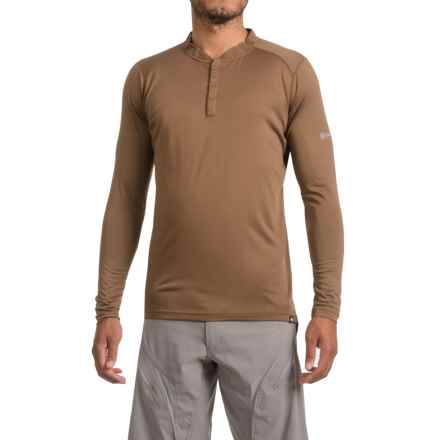 Canari Bernies Cycling Jersey - Long Sleeve (For Men) in Durango Brown - Closeouts