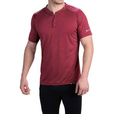 Canari Bernies Cycling Jersey - Snap Neck, Short Sleeve (For Men) in Rio Red - Closeouts