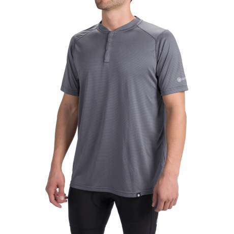 Canari Bernies Cycling Jersey Snap Neck, Short Sleeve (For Men)