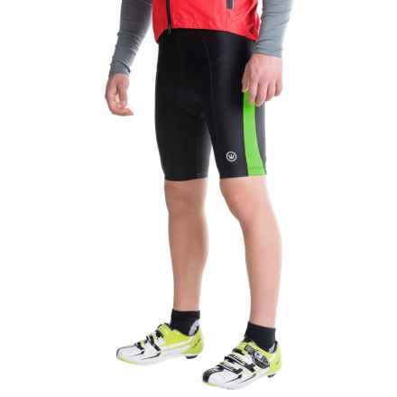 Canari Blade Gel Bike Shorts (For Men) in Glowstick Green - Closeouts