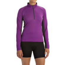 Canari Breakaway Cycling Jersey - Zip Neck, Long Sleeve (For Women) in Imperial Purple - Closeouts