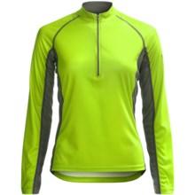 Canari Breakaway Cycling Jersey - Zip Neck, Long Sleeve (For Women) in Killer Yellow - Closeouts