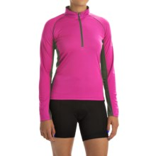 Canari Breakaway Cycling Jersey - Zip Neck, Long Sleeve (For Women) in Panther Pink - Closeouts
