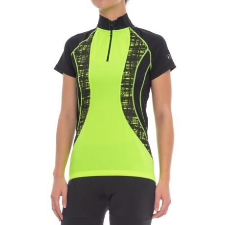 Canari Camilla Cycling Jersey - Short Sleeve (For Women) in Killer Yellow