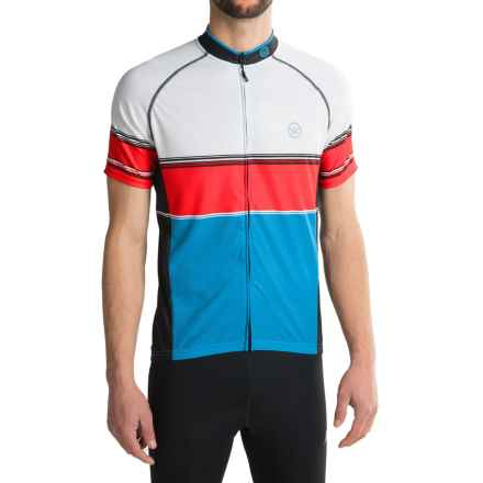 Canari Carlsbad Cycling Jersey - UPF 30+, Full Zip, Short Sleeve (For Men) in Azure Blue - Closeouts