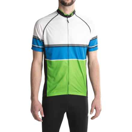 Canari Carlsbad Cycling Jersey - UPF 30+, Full Zip, Short Sleeve (For Men) in Ecto Green - Closeouts
