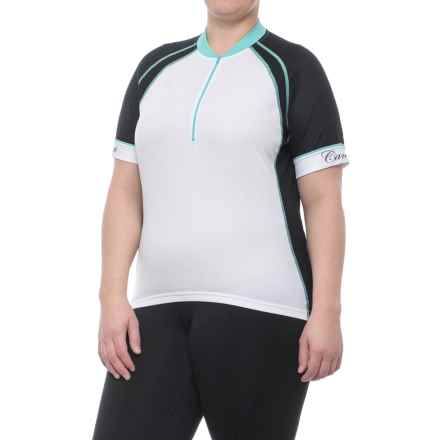 Canari Cascade Cycling Jersey - Zip Neck, Short Sleeve (For Plus Size Women) in Black - Closeouts