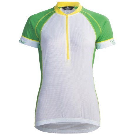Canari Cascade Cycling Jersey - Zip Neck, Short Sleeve (For Women) in Bamboo