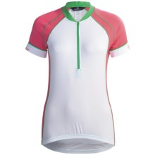 Canari Cascade Cycling Jersey - Zip Neck, Short Sleeve (For Women) in Blossom - Closeouts